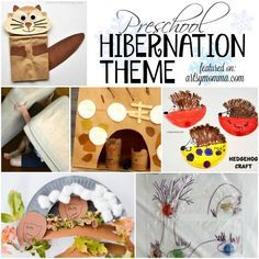 Have fun learning about where animals go in winter with crafts and activities for a Preschool Hibernation Theme - bears, chipmunks, hedgehogs and more!