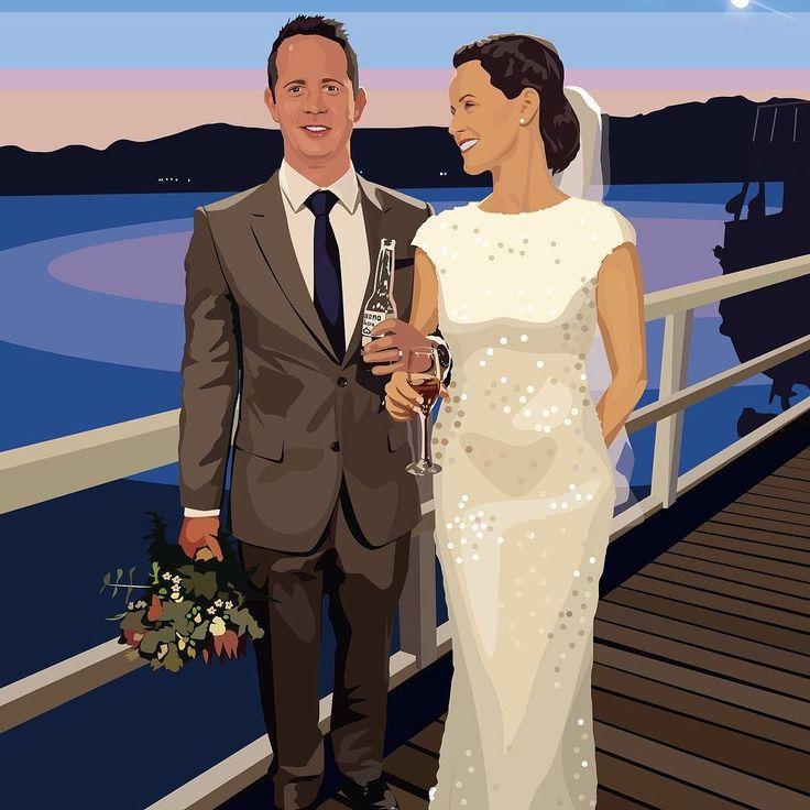 Beautiful #bespoke #wedding #illustration created by hand digitally from your photographs #artwork #unique #modern #stylish #weddingday #weddinggift #weddingphotography #weddingdress #bride #groom #brideandgroom #sunset #destinationwedding #happycouple #justmarried #christmasgifts by lifeillustrated.co.uk