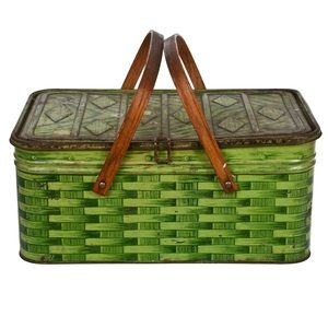 Green Tin Picnic Basket, $76, now featured on Fab.