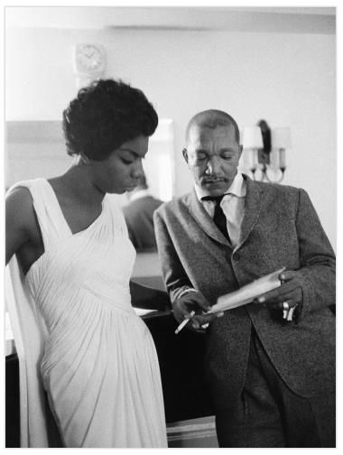 Redd Foxx and Nina Simone chilling in 1959. Photo by G. Marshall Wilson (1906-1998), a staff photographer for EBONY for 33 years.