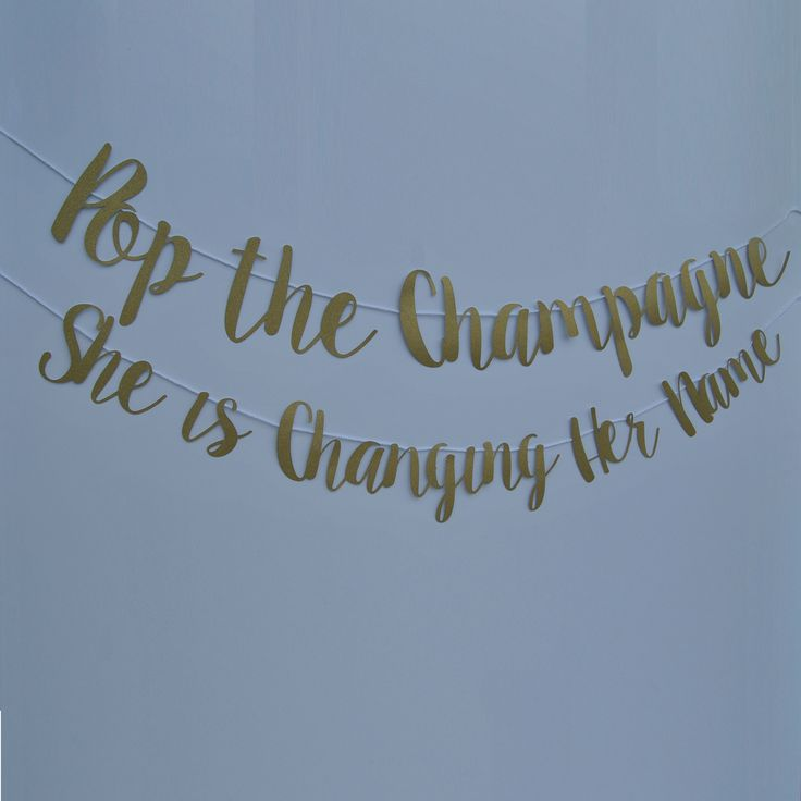 "She said, ""Yes"", so pop a bottle of bubbly and let the party begin! This banner is perfect for a bachelorette party or engagement party and comes in any color,"