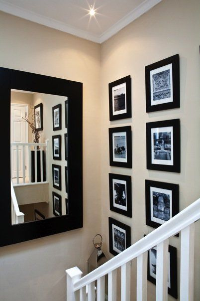 nice use of space and adding the mirror add light and is a great way of checking your outfit on the way to work!