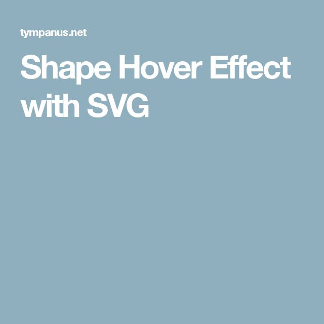 Shape Hover Effect with SVG