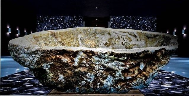 Rock Crystal Quartz Rutile Bathtub | Crivelli's one of a kind masterpiece, a Unique crystal bath. This magnificent piece is hand carved out of a single block of precious rock crystal q... view details on www.treniq.com