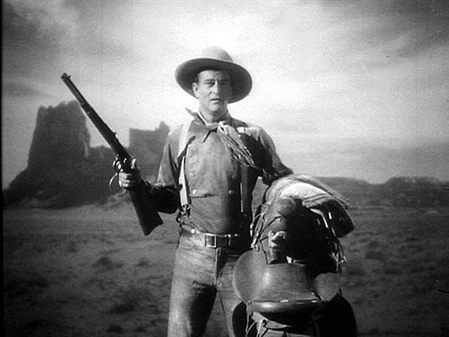 John Wayne, the Ringo Kid, in John Ford's Stagecoach (1939)