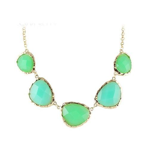 Green Gemstone Necklace, Trendy stone rings, Black ribbon color alloy chain cuff   belt for women, Stretchable cross shape bracelet, alloy arm cuff online India Rhinestone Dangle Statement Earrings