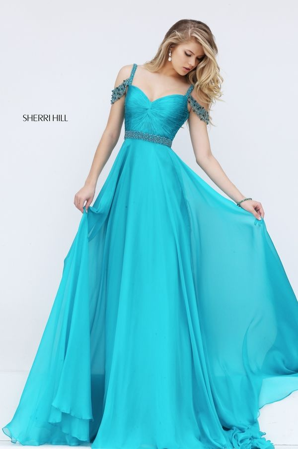 Sherri Hill 50086 Style Off the Shoulder Prom Dress