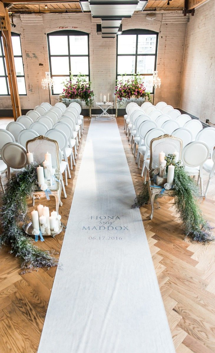 A Personalized Aisle Runner Is Perfect For The Bride S Grand Entrance To Ceremony This Wedding Features Four Lines Of Custom Text Too