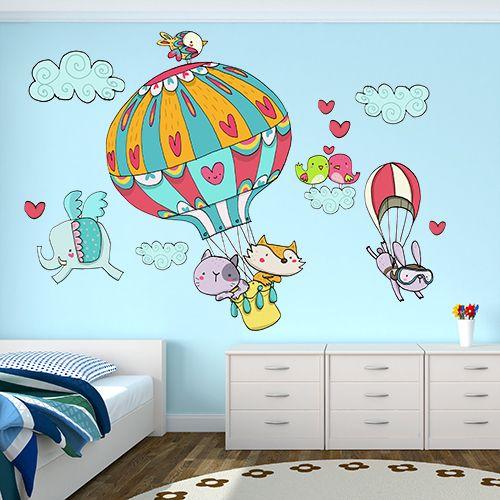 Adesivo murale per la cameretta A spasso nel cielo di Wall Art - Adesivi Murali su DaWanda.com