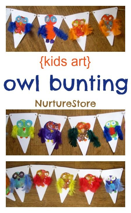 How to make owl bunting - NurtureStore
