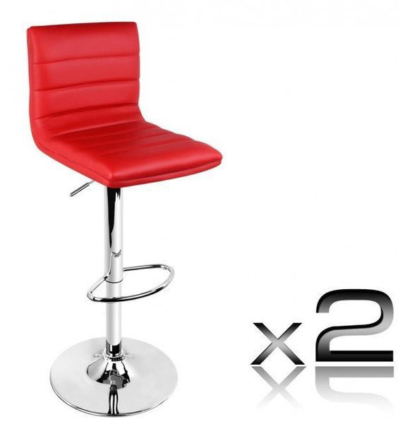Odette  High Back Kitchen Bar Chair in Red (Set of 2) u2013  sc 1 st  Pinterest & Best 25+ Red bar stools ideas on Pinterest | Retro bar stools ... islam-shia.org