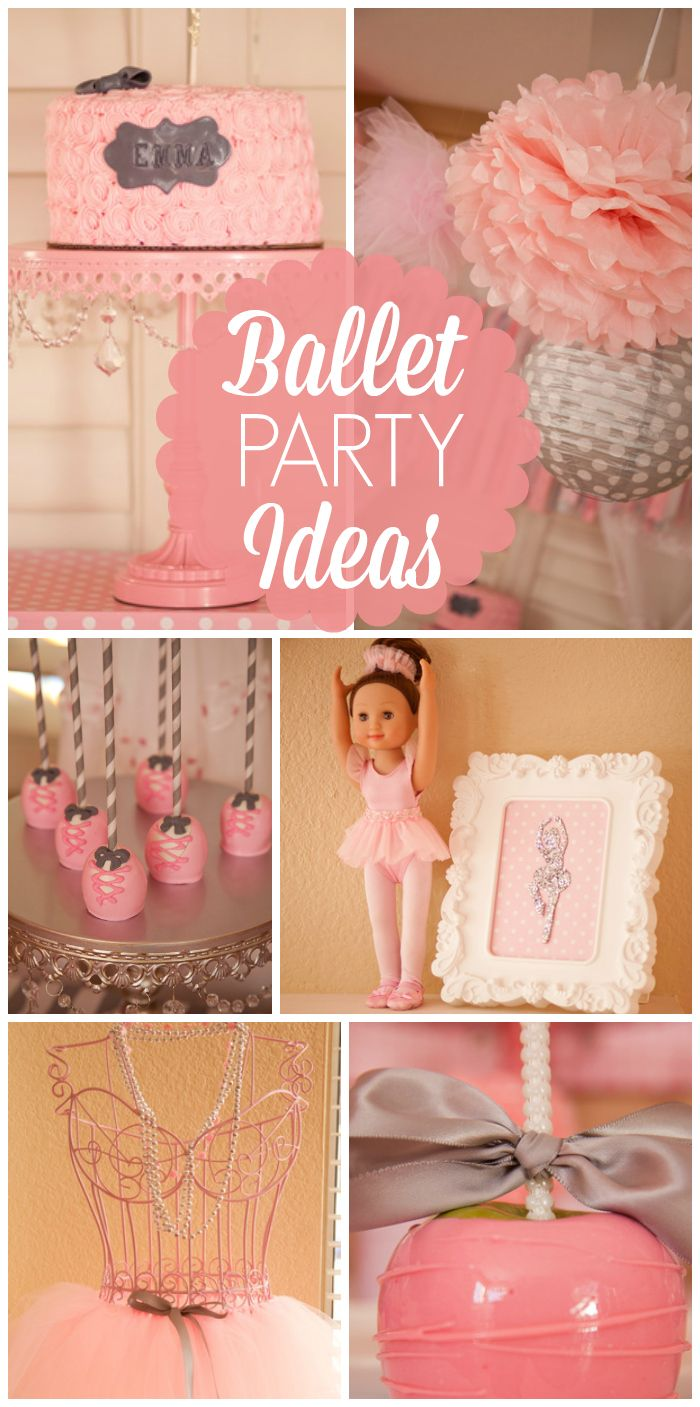 Love this gorgeous pink ballerina girl birthday party! See more party ideas at CatchMyParty.com!