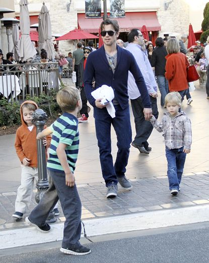 White Collar's Matt Bomer + adorable little boys