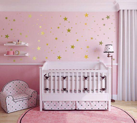 Muro adesivi - stickers in vinile retrò stelle, Confetti stelle - Diamond Star Decalcomanie - Nursery - decalcomanie stelle di stelle