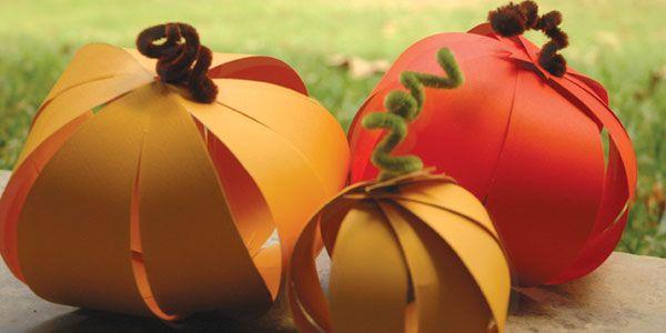 Easy Paper Pumpkins!
