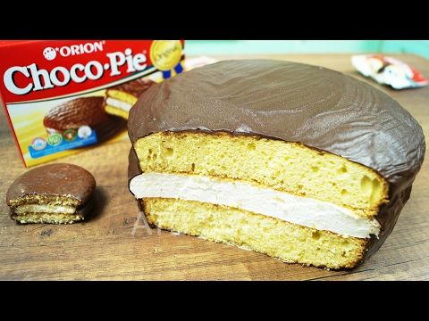 (12) HOW TO MAKE A GIANT CHOCO PIE. REAL HOMEMADE CHOCO PIE - YouTube