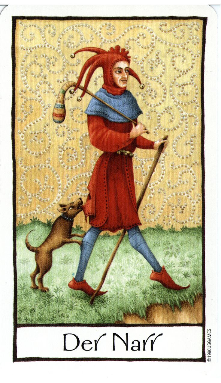 Fool From The Universal Waite Tarot: The Fool - Old English Tarot