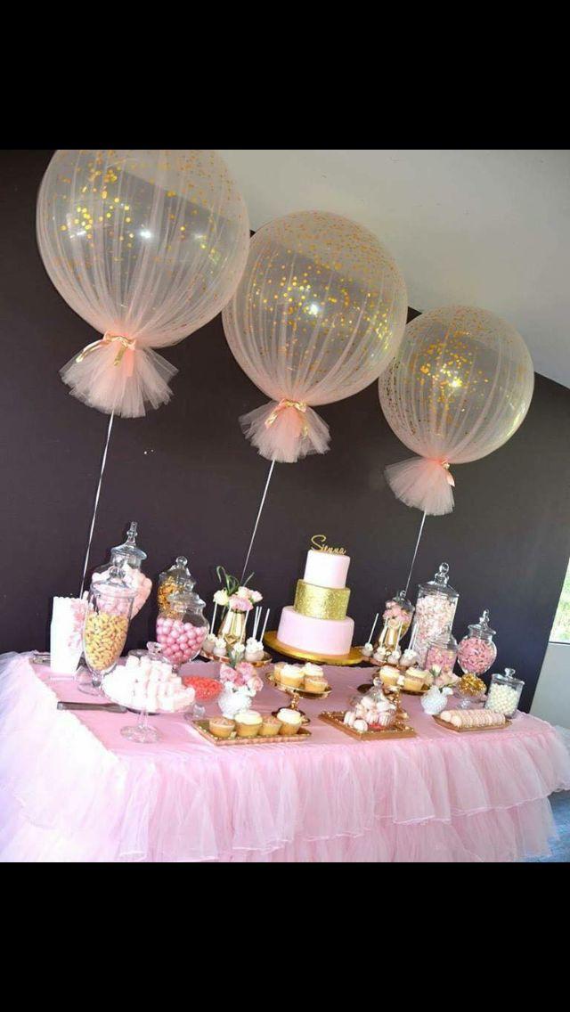 Candy table #decoracionbabyshowergirl