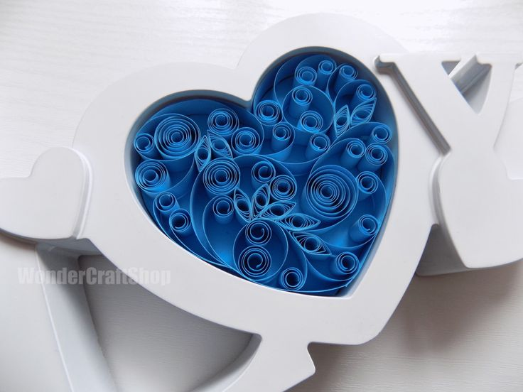 quilled blue heart, wedding sign, something blue, blue wedding, love gift for wife, valentine's gift for her, paper art, 3d ornament by WonderCraftShop on Etsy https://www.etsy.com/listing/266716161/quilled-blue-heart-wedding-sign