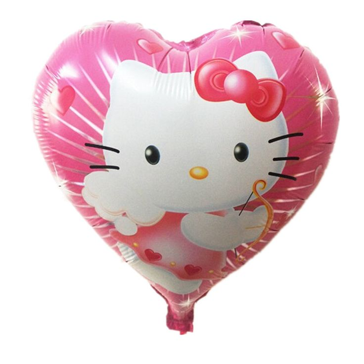 >> Click to Buy << XXPWJ 18inch high quality hello kitty balloon hello kitty birthday KT party supplies hello kitty party favors foil balloon #Affiliate