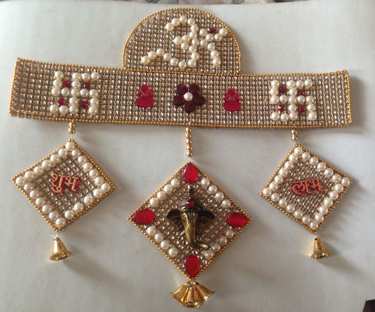 Top 25 ideas about kundan toran on pinterest gold beads - How to make handicraft things ...