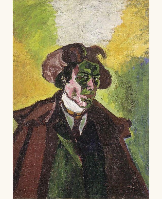 Lillith's Place Self portrait, 1908 - Bohumil Kubišta (1884–1918)