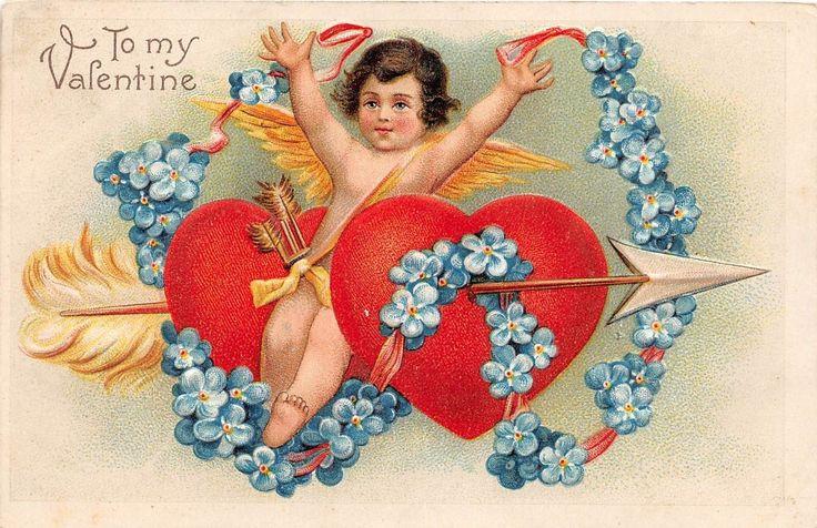C33/ Valentine's Day Love Holiday Postcard c1910 Germany Cupid Arrow 22 | eBay