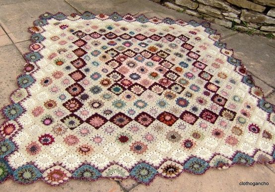 Amazing granny square blanket with a slight twist by susanna