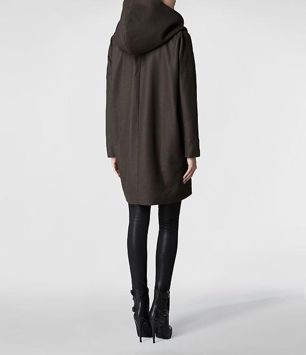 hooded klein coat