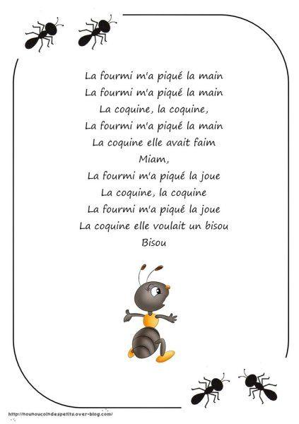 La Fourmie M'a Pique La Main : fourmie, pique, Printemps, Nounoucoindespetits, Comptines,, Chansons, Comptine, Crèche