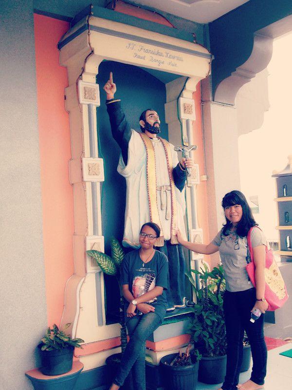 With boru Simbolon gw ni :) #yayuk Graha St. Maria Annai Velangkanni di Medan, Sumatera Utara
