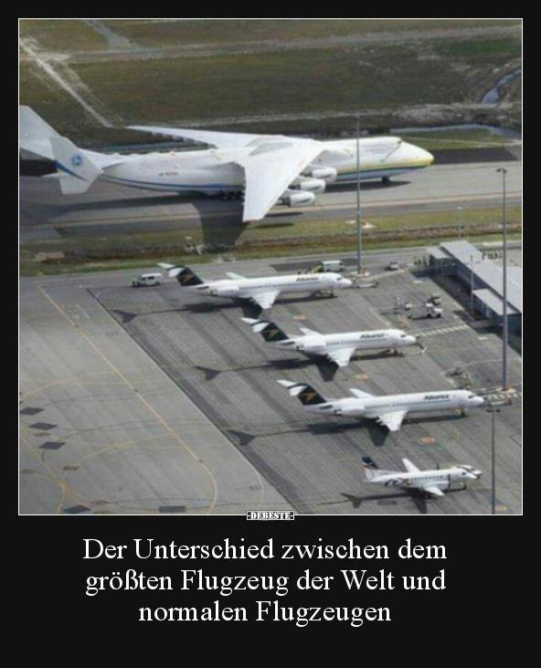 Der Unterschied Zwischen Dem Grossten Flugzeug Der Welt Lustige