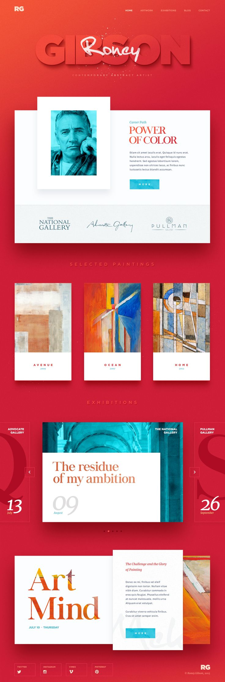 New promo #website #design and #Ui conception for the artist Roney Gibson, by…