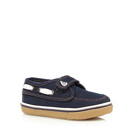 bluezoo Boys' navy boat shoes- | Debenhams