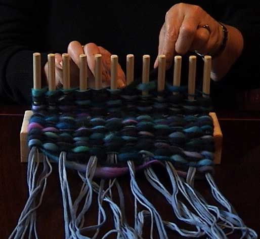 I want a loom! I saw some fab weaving using strips of denim cut from jeans as the warps and have been inspired........