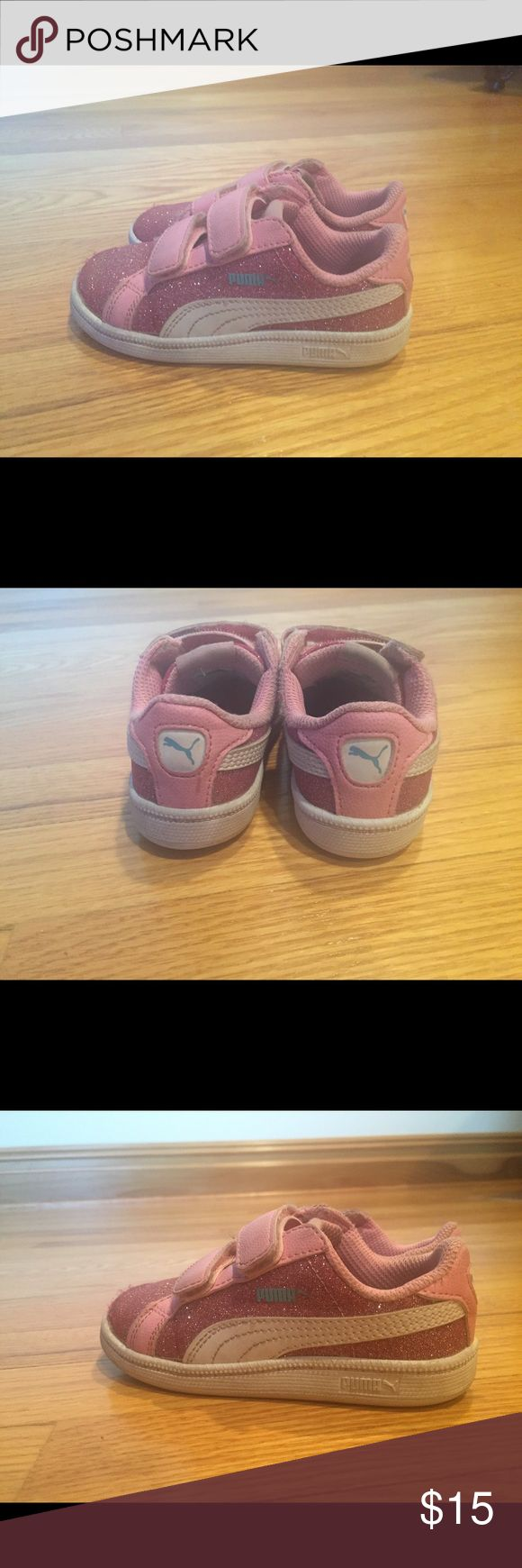 Puma pink sneakers Puma pink sneakers in good condition Puma Shoes Sneakers