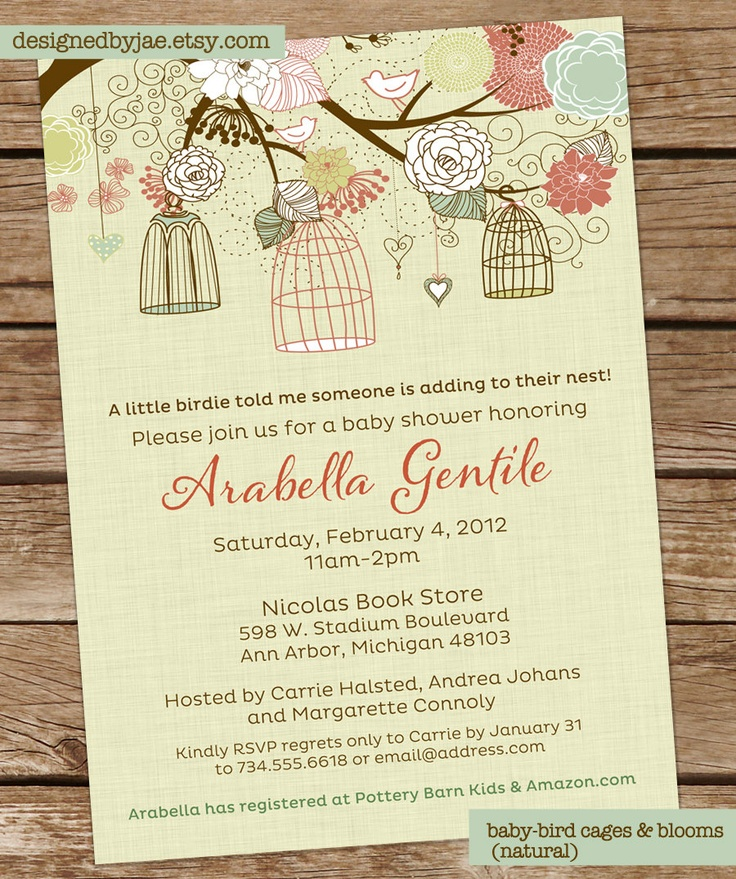 baby shower invitation gender neutral baby bird by designedbyjae 14