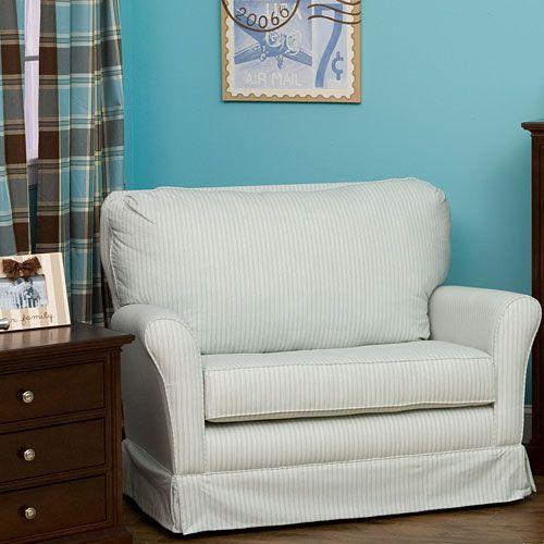 Zipper Stripe Chair-And-A-Half Glider