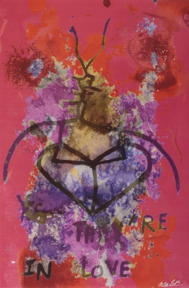 Pop Art Brut Singulier Tableau numérique /Akilux Nea Borgel Sexy Love Rouge Déco