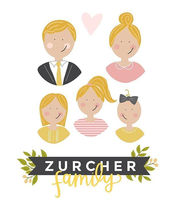 Say Hello To The Easiest Custom Family Portrait Ever I Designed This Sticker Pack For Th Custom Family Illustration Custom Family Portrait Family Illustration