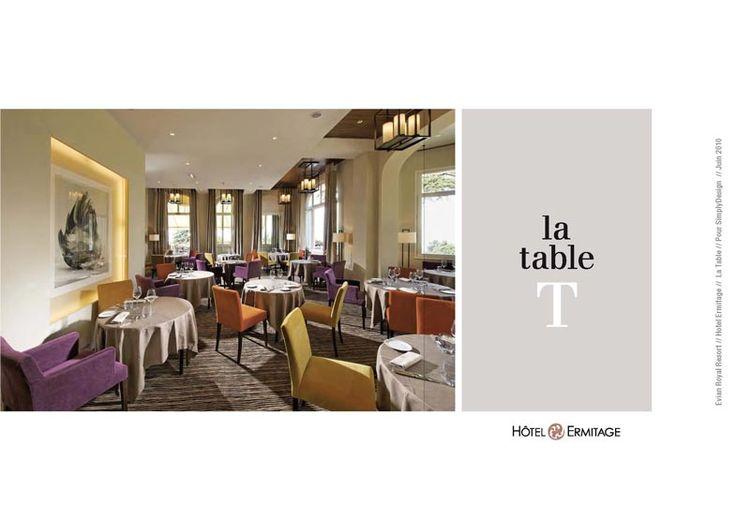 Création du concept, de la décoration, de la carte et du menu du restaurant La Table