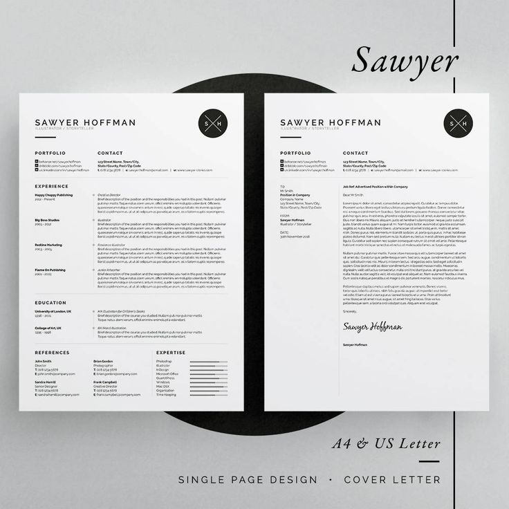 sawyer resume  cv template