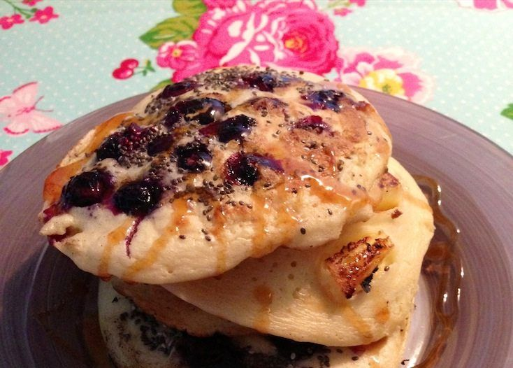 Recept voor american pancakes als ontbijt. Geïnspireerd op een recept van Jamie Oliver en eigen gemaakt door Francesca Kookt!