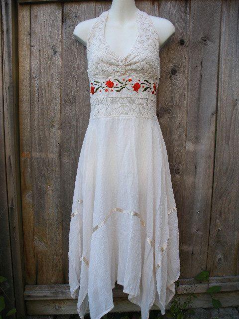 Pretty White Hippie Dress