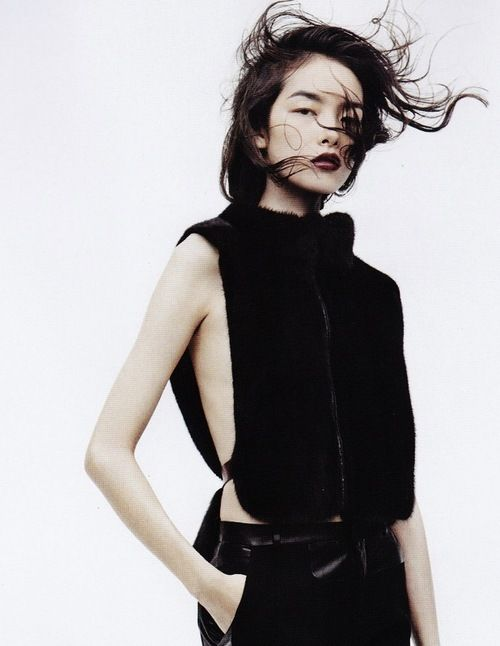 Fei Fei Sun in Black & White photographed by Josh Olins for Vogue China November 2011
