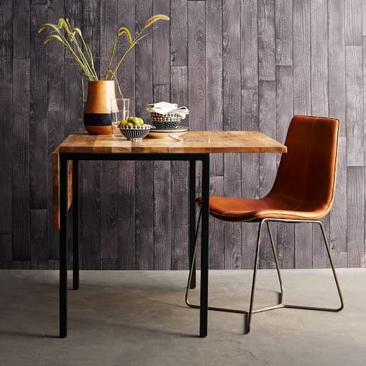 Box Frame Drop Leaf Expandable Table from West Elm, perfect for small spaces