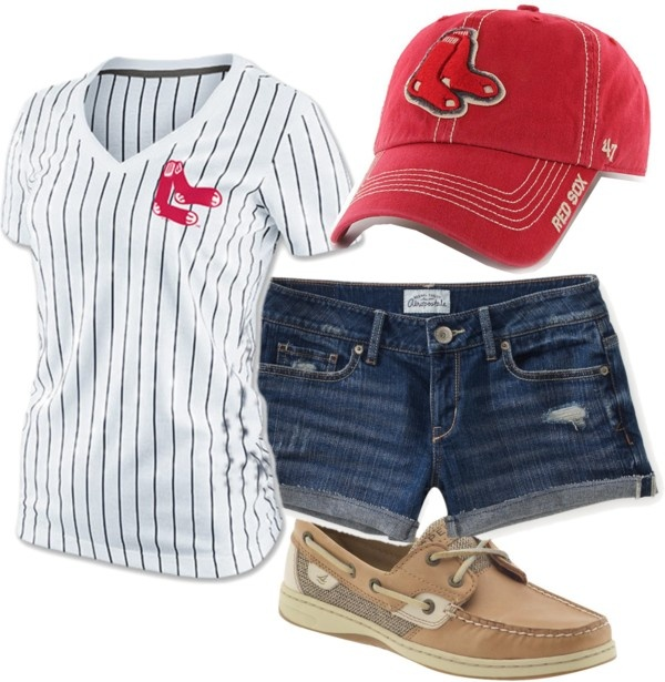 """Red Sox Game"" by laura-matt on Polyvore"
