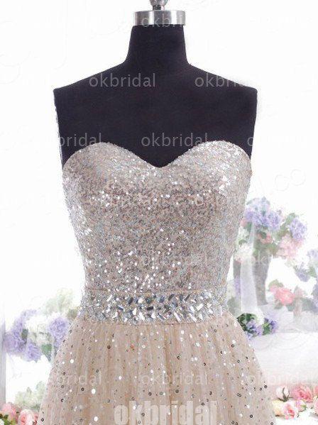 sequin prom dress long prom dress formal prom dress by okbridal