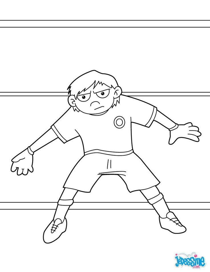 69 best Coloriages Football images by HelloKids France on Pinterest   Coloriage football ...