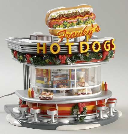 Department 56 Snow Village Franky's Hot Dogs - With Box Bx656